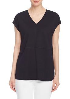 Jones New York V-Neck Dolman Sleeve T-Shirt