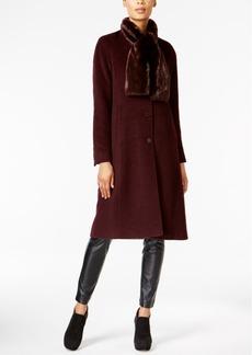 Jones New York Walker Coat & Faux-Fur Scarf