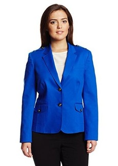 Jones New York Women's 2 Button Blazer with Epaulettes