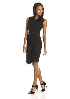 Jones New York Women's Asymmetrical Faux Wrap Dress