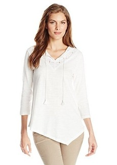 Jones New York Women's Asymmetrical Hem Top