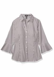 Jones New York Women's Bell Sleeve Button Up Non Iron Shirt