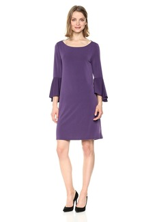 Jones New York Women's Bell Slv High Low Hem Easy Trapeze Dress  M