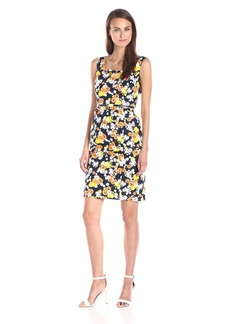 Jones New York Women's Belted Printed Sheath Dress