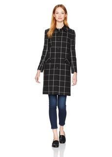 Jones New York Women's Big Windowpane Washable Suiting Coat