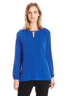 Jones New York Women's Blouson Slv Top  M