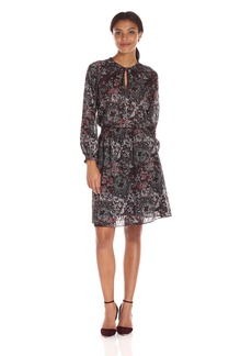 Jones New York Women's Bohemian Paisley Peasant Dress