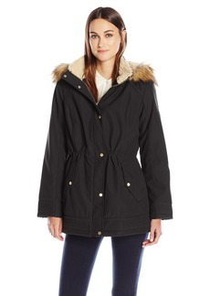 Jones New York Women's Bonded Poly Parka with Feather Touch Fill