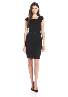 Jones New York Women's Brooke Cap Sleeve Dress JBlack