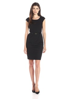 Jones New York Women's Brooke Cap Sleeve Dress JBlack