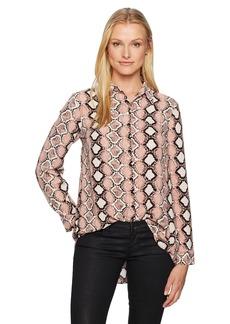 Jones New York Women's Button FRNT Hi Low Shirt W/Back Shirring  M