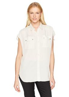 Jones New York Women's Button up Shirt with Cording on Shoulder  XS