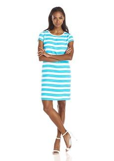 Jones New York Women's Cap Sleeve Shift Dress