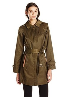 Jones New York Women's Center Front Zip Trench