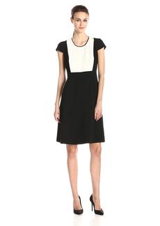 Jones New York Women's Color Block Fit and Flare Dress