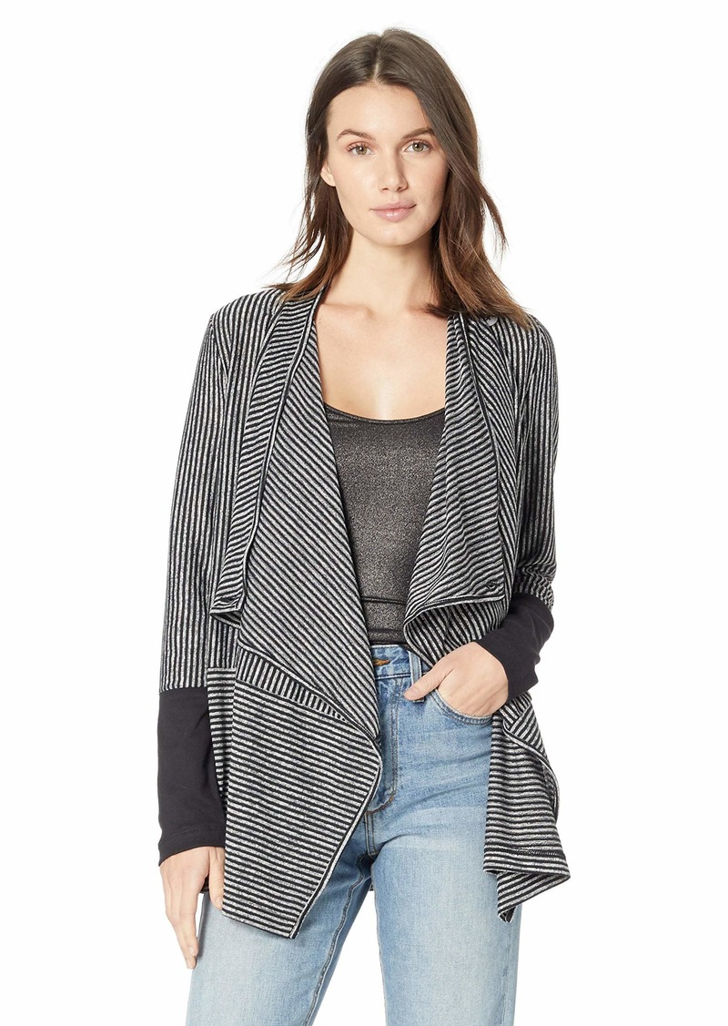 Jones New York Women's Convertible Waterfall Front Cardigan  S