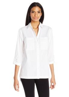 Jones New York Women's Cotton Equipment Shirt  M