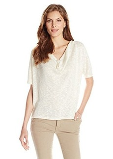 Jones New York Women's Short Sleeve Cowl Neck Pullover