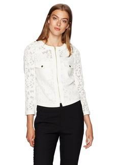 Jones New York Women's Cropped Lace Jacket