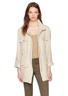 Jones New York Women's Crossdye Linen Safari Jacket  L