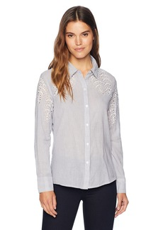 Jones New York Women's Cutwork Top  S
