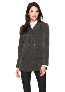 Jones New York Women's DBL Breasted Peacoat With BK Seam Dtl