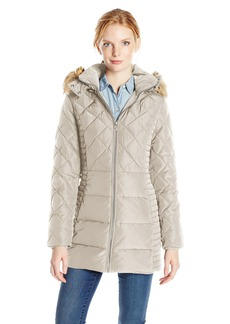 Jones New York Women's Diamond Quilted Down Coat