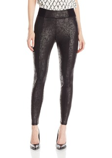 Jones New York Women's Distressed Foil Ponte Legging  M