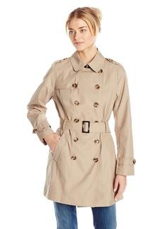 Jones New York Women's Double Breasted Trench Coat