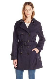 Jones New York Women's Double-Breasted Trench Coat