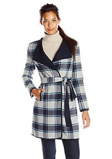 Jones New York Women's Double Face Long Coat Navy/ulti edium