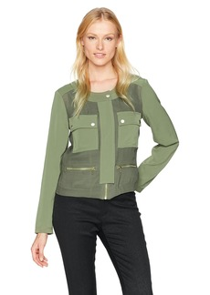 Jones New York Women's Doubleface Cropped Jacket  M