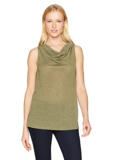 Jones New York Women's Drape Nk Tunic Tank W/Slits  M