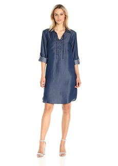 Jones New York Women's Elbow SLV Tencel Lace Up No WST Shirt