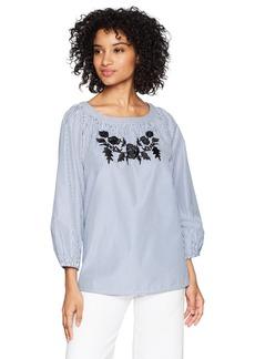 Jones New York Women's Embroidered Shirt  M