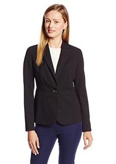 Jones New York Women's Emma Solid Seasonless Stretch Waist Seam Jacket