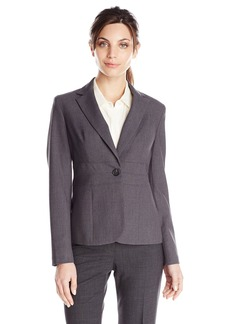 Jones New York Women's Emma Solid Short Waist Seam Jacket