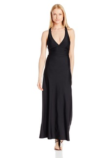 Jones New York Women's Essential Solid Wrap-Around Maxi Dress Cover up