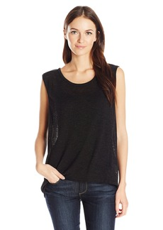 Jones New York Women's Scoop Neck Tank with Drape Back  M