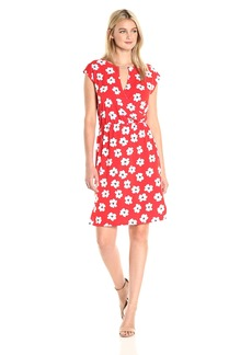 Jones New York Women's Extend Sleeve PRNT Blouson Drape  L