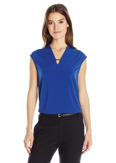 Jones New York Women's Extend SLV Easy V-Nk Top  XS