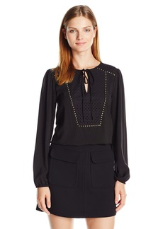 Jones New York Women's Eyelet Embellished Top