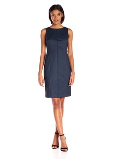Jones New York Women's Fitted Indigo Midi Dress