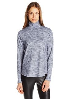 Jones New York Women's Funnel Neck Space Dye Pullover