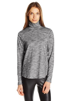 Jones New York Women's Funnel Neck Space Dye Pullover
