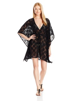 Jones New York Women's Hampton Solid Lace Tunic Cover up  S/M