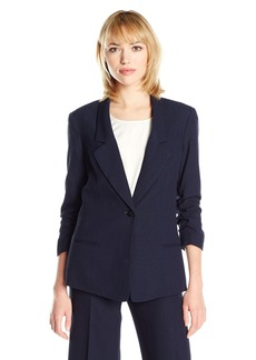 Jones New York Women's Herringbone Jacquard Boyfriend Blazer