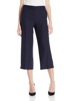 Jones New York Women's Herringbone Jacquard Wide Leg Gaucho Pant