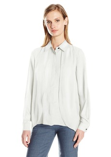 Jones New York Women's Hi Lo Buttondown Blouse  XL