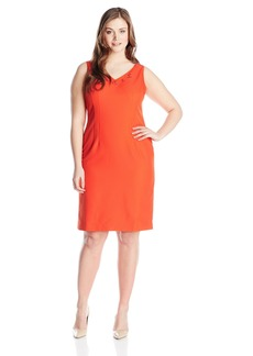 Jones New York Women's Honeycomb V-Neck Sheath